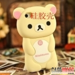 case iphone 5 เคสไอโฟน5 เคสซิลิโคน 3D เจ้าหมีขี้เกียจ Rilakkuma น่ารักๆ 3D Rilakkuma phone shell Cartoon housing Silicone Case