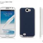 Case Note 2 เคส Note 2 เคสหนังกับซิลิโคนนิ่มๆ บางสวย ข้างในบุด้วยกำมาหยี่ กันตัวเครื่องเป็นรอยได้ดีสุดๆ มีหลายสีให้เลือก Card board fashion cross pattern Samsung N7100 N7108 hard and soft shell mobile phone shell protective