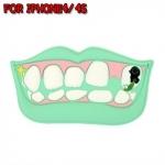 case iphone 4/4s เคสไอโฟน4/4s เคสซิลิโคน 3D รูปแมงกินฟัน แปลกๆ กวนๆ ฮาๆ