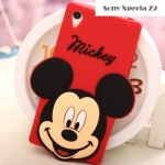 เคสโซนี่ Z2 Case Sony Xperia Z2 ซิลิโคน Disney Mickey มินนี่ มิกกี้ ไมค์