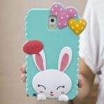 เคสซัมซุงโน๊ต3 Case Samsung Galaxy note 3 ซิลิโคน 3D กระต่ายน้อยน่ารักๆ มีหัวใจหวานๆ เคสมือถือราคาถูกขายปลีกขายส่ง