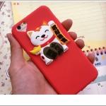 เคส iPhone SE / 5s / 5 ซิลิโคน TPU แมววกวักนำโชคสุดเฮง ราคาส่ง ขายถูกสุด