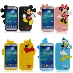 Case Samsung Galaxy S4 i9500 Disney Mickey Minnie mouse winnie the pooh donald duck ซิลิโคน 3D เคสมือถือ ราคาถูก ขายส่ง