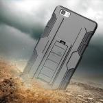 เคส Huawei P8 Lite กันกระแทก แนวลุยๆ ดุๆ เท่ๆ ถึกๆ อึดๆ แนวทหาร เดินป่า ผจญภัย adventure เคสแยกประกอบ 3 ชิ้น ชั้นในเป็นยางซิลิโคนกันกระแทก ครอบด้วยแผ่นพลาสติกอีก1 ชั้น กาง-หุบขาตั้งได้ มีปลอกฝาหน้าแบบสวมสไลด์ ใช้หนีบเข็มขัดเพื่อพกพาได้