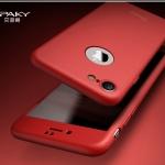 Case iPhone 7 (4.7 นิ้ว) พลาสติกเคลือบเมทัลลิคแบบประกบหน้า - หลังสวยงามมากๆ ราคาถูก