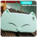 case iphone 4/4s เคสไอโฟน4/4s เคสน้องแมวหน้ายิ้มตาหยี น่ารักๆ
