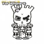 case iphone 5 เคสไอโฟน5 เคสซิลิโคน 3D หัวกะโหลกแนวๆ