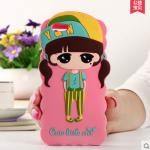 Case Huawei honor 4x (aLek 4g plus) ซิลิโคน 3D สามมิติเด็กผู้หญิงสวมหมาวกน่ารักมากๆ ราคาส่ง ราคาปลีก ราคาถูก