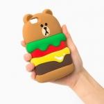 Case iPhone 5s, iPhone 5, iPhone 5SE ซิลิโคน TPU เบอร์เกอร์แสนน่ารัก ราคาถูก