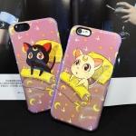 เคส iPhone 6s / iPhone 6 (4.7 นิ้ว) พลาสติก + TPU ลายเซเอลร์มูน แสนน่ารัก ราคาถูก