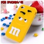 case iphone 4/4s เคสไอโฟน4/4s M&M เอ็มแอนด์เอ็ม silicone 3D น่ารักๆ กวนๆ