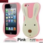 case iphone 5 เคสซิลิโคน 3D กระต่ายสีหวานๆ สวยๆ น่ารักๆ Korea Cute Rabbit Silicone Case