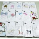 case iphone 4s 4 happymori เคสประกบ 2 ชิ้นหน้าหลัง ตกแต่งด้วยของน่ารักๆ