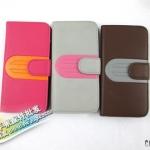 case iphone 5 เคสไอโฟน5 เคสหนังกระเป๋าฝาพับข้างสีหวานสดใสสวยน่ารักหรูหรา Korea Apple iPhone5 holster color