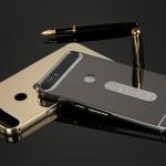 เคส Huawei Nexus 6P ขอบเคสโลหะ Bumper + พร้อมแผ่นฝาหลังเงางามสวยจับตา ราคาถูก