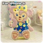 case iphone 5 เคสไอโฟน5 ตุ๊กตาหมีน่ารักๆ เคสซิลิโคน 3D