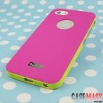 case iphone 5 เคสไอโฟน5 เคสพลาสติกแบบแยกประกอบ 3 ชิ้น โชว์โลโก้ สลับสีตัดกันสวยๆ บางๆ แนวๆ TRYIT three-piece mosaic color shell iPhone5