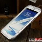 เคส Note 2 Case Samsung Galaxy Note 2 II N7100 ขอบเคส bumper อลูมินัมอัลลอย 2 ชิ้นแบบสไลด์ น้ำหนักเบา ขอบกันลื่น สวยๆ ใส่ได้โดยไม่ต้องไขน๊อต ถอดฝาหลังได้โดยไม่ต้องถอดขอบออก metal border Aluminum alloy non-slip metal frame back cover