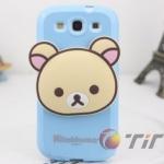 CASE Samsung Galaxy SIII (S3) Rilakkuma TPU หัวโตๆ เคสมือถือราคาถูกขายปลีกขายส่ง