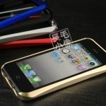 case iphone 5 เคสไอโฟน5 ขอบเคส bumper โลหะขอบเว้า แยกประกอบ 2 ชิ้น เชื่อมต่อโดยการสไลด์ ไม่ต้องไขน๊อต เงาๆ สวยๆ Pull-out waistline protective shell metal frame shell