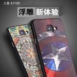 เคส Samsung Galaxy A7 2016 TPU สีดำสกรีนลายน่ารักๆ กราฟฟิค ฮีโร่สุดเท่ น่าใช้มาก ราคาถูก
