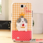 เคส Note 2 Case Samsung Galaxy Note 2 II N7100 เคส molang 3D สามารถกางออกมาเป็นขาตั้งได้ 3D three-dimensional potatoes rabbit the N7100 phone shell bracket protective cover case