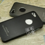 case iphone 5 เคสไอโฟน5 CROSS LINE เคสโลหะแยกประกอบ 3 ชิ้น แผ่นหลังเป็นโลหะลายเส้นๆ มีช่องโชว์โลโก้ สวยงามสุดๆ ด้านในบุด้วยเลเยอร์โฟมกันตัวเครื่องเป็นรอย CROSS LINE Design by DrewChan in Germany