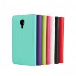 เคส Meizu MX4 แบบพับหนังเทียมสีสันสดใส เรียบ หรู ตั้งได้ ใส่บัตรได้ ราคาถูก