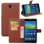 เคส Samsung Galaxy Mega 2 แบบฝาพับด้านข้างหนังเทียมสีพื้นคลาสสิค ด้านในสามารถใส่บัตรได้ควรมีไว้สักอัน ราคาถูก
