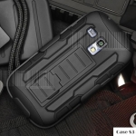 เคส S3 mini Samsung Galaxy S3 mini เคสกันกระแทก สวยๆ ดุๆ เท่ๆ แนวถึกๆ อึดๆ แนวทหาร เดินป่า ผจญภัย adventure เคสแยกประกอบ 3 ชิ้น ชั้นในเป็นยางซิลิโคนกันกระแทก ครอบด้วยแผ่นพลาสติกอีก1 ชั้น กาง-หุบขาตั้งได้ มีปลอกฝาหน้าแบบสวมสไลด์ ใช้หนีบเข็มขัดเพื่อพกพาได้