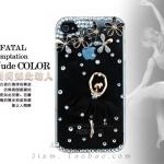 เคสไอโฟน 4/4s case iphone 4/4s สาวเต้นบัลเล่ต์ ประดับคริสตัลสวยงามหรูหราไฮโซ