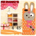 case iphone 4/4s เคสไอโฟน4/4s เคสซิลิโคน 3D น้องกระต่ายน่ารักๆ