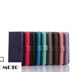 เคส MOTO G4 Plus แบบฝาพับหนังเทียมสีคลาสสิค มีช่องใส่บัตร เรียบๆ ดูดีมากๆ ราคาถูก