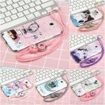 เคส Samsung Note 2 ซิลิโคน soft case สกรีลายน่ารักๆ พร้อมแหวานมือถือและสายคล้องเข้าชุดกัน ราคาถูก