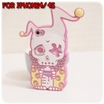 case iphone 4/4s เคสไอโฟน4/4s Candies เคสซิลิโคน 3D รูปหัวกะโหลกแนวๆ