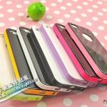 case iphone 5 เคสไอโฟน5 เคสแยกประกอบ 3 ชิ้น สีตัดกันสวยงาม ด้านหลังมีช่องโชว์โลโก้ใส่แล้วสวยมาก