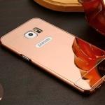 เคส Samsung Galaxy S7 Edge ขอบเคสโลหะ Bumper + พร้อมแผ่นฝาหลังเงางามสวยจับตา ราคาถูก