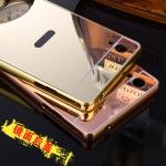 เคส Sony Xperia M4 Aqua ขอบเคสโลหะ Bumper + พร้อมแผ่นฝาหลังเงางามสวยจับตา ราคาถูก