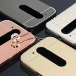 เคส Motorola Moto G4 Plus ขอบเคสโลหะ Bumper + พร้อมแผ่นฝาหลังเงางามสวยจับตา ราคาถูก