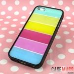 case iphone 5 เคสไอโฟน5 เคสขอบนุ่ม TPU ด้านหลังโปร่งแสงสลับลายสีรุ้ง สีหวานสดใส ใส่แล้วสวยมากๆ Korea Lims rainbow shell Apple iPhone5