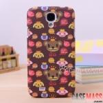 เคส S4 Case Samsung Galaxy S4 i9500 เคส Wingcle Bear หมีน้อยน่ารักๆ มาแรงยอดนิยม New South Korean cartoon Crown Winnie Samsung s4 mobile phone sets i9500 protective sleeve scrub phone shell
