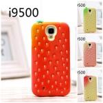 เคส S4 Case Samsung Galaxy S4 i9500 strawberry silicone 3D สตอเบอรี่ น่ารักๆ