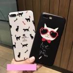 Case iPhone 7 (4.7 นิ้ว) พลาสติกสกรีนลายแมวน้อยแสนน่ารัก น่าใช้ ราคาถูก