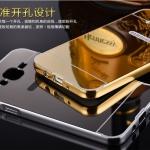 เคส Samsung Galaxy E5 ขอบเคสโลหะ Bumper + พร้อมแผ่นฝาหลังเงางามสวยจับตา ราคาถูก
