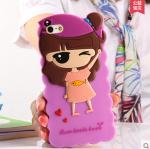 Case Huawei honor 4x (aLek 4g plus) ซิลิโคน 3D สามมิติเด็กผู้หญิงสวมหมาวกปลาน้อยน่ารักมากๆ ราคาส่ง ราคาถูก ราคาปลีก