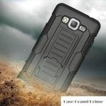 เคส Samsung Galaxy Grand Prime เคสกันกระแทก สวยๆ ดุๆ เท่ๆ แนวถึกๆ อึดๆ แนวทหาร เดินป่า ผจญภัย adventure เคสแยกประกอบ 3 ชิ้น ชั้นในเป็นยางซิลิโคนกันกระแทก ครอบด้วยแผ่นพลาสติกอีก1 ชั้น กาง-หุบขาตั้งได้ มีปลอกฝาหน้าแบบสวมสไลด์ ใช้หนีบเข็มขัดเพื่อพกพาได้