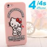 case iphone 4 เคสไอโฟน4s คิตตี้ซิลิโคน ลายครบรอบ 40 ปี 40th anniversary of the kitty Silicone Case