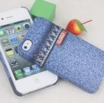 เคสไอโฟน4 case iphone 4s พลาสติกทำเลียนแบบลายยีนส์สุดเท่