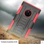 เคส Nokia Lumia 830 เคสกันกระแทก สวยๆ ดุๆ เท่ๆ แนวถึกๆ อึดๆ แนวทหาร เดินป่า ผจญภัย adventure เคสแยกประกอบ 2 ชิ้น ชั้นในเป็นยางซิลิโคนกันกระแทก ครอบด้วยแผ่นพลาสติกอีก1 ชั้น กาง-หุบขาตั้งได้ มีปลอกฝาหน้าแบบสวมสไลด์ ใช้หนีบเข็มขัดเพื่อพกพาได้