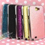เคส Note 2 Case Samsung Galaxy Note 2 II N7100 เคสขอบเงินเงาๆ ด้านหลังคล้ายกากเพชรระยิ๊บระยับ สวยๆ Korea diamond pattern sequins Samsung N7100